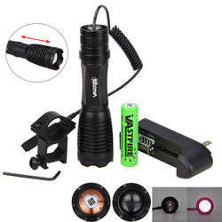 <font><b>10w</b></font> 940nm IR LED Zoomable Night Vision Infrared Radiation Flashlight Torch Lamp Light Rechargeable 18650 <font><b>Battery</b></font>