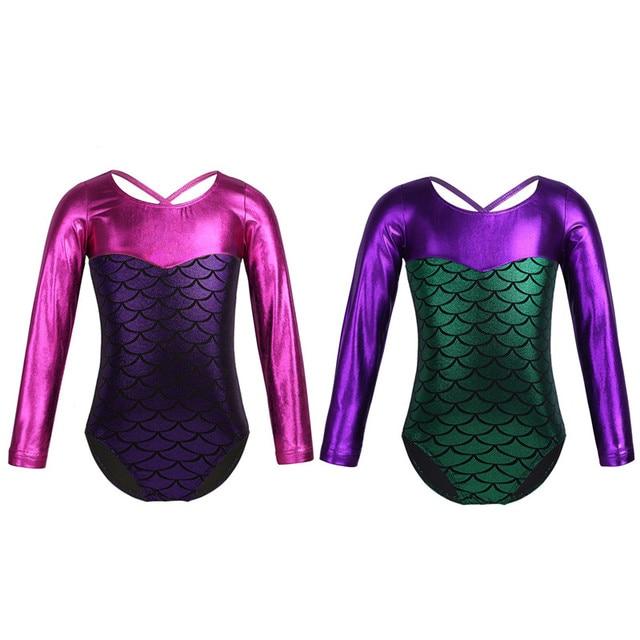 017690024 Aliexpress.com   Buy FEESHOW Girls Glittery mermaid Ballet Jumpsuit ...