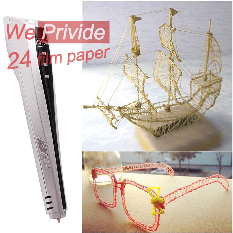 ФОТО DIY 1.75mm ABS/PLA Smart 3D Pen Tool +10M PLA Filament Thread LED 3D Printing Graffiti Pen Creative Toys Gift For Kids Drawing