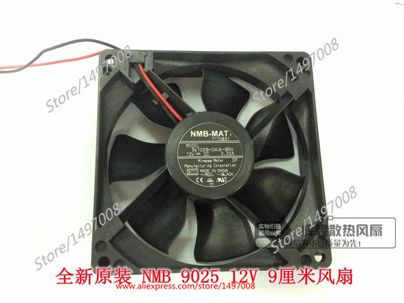 NMB-MAT 3610SB-04W-B50, B00 DC 12V 0.20A, 90x90x25mm   Server Square  fan nmb mat 3110kl 04w b49 b02 b01 dc 12v 0 26a 3 wire server square fan