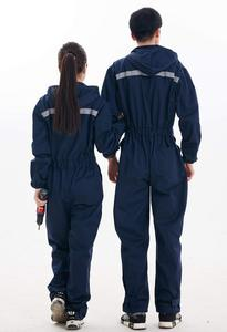 Image 3 - Safety reflective work overalls with hat, factory uniform work clothing, cotton overalls.jumpsuit,Labor suit.