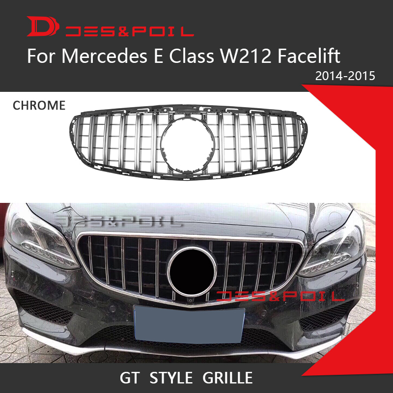 e class w212 amg gt grill vertical grille for mercedes. Black Bedroom Furniture Sets. Home Design Ideas