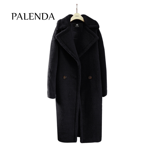 2018 new teddy coat faux fur long coat women lamb fur coat 4 color 4