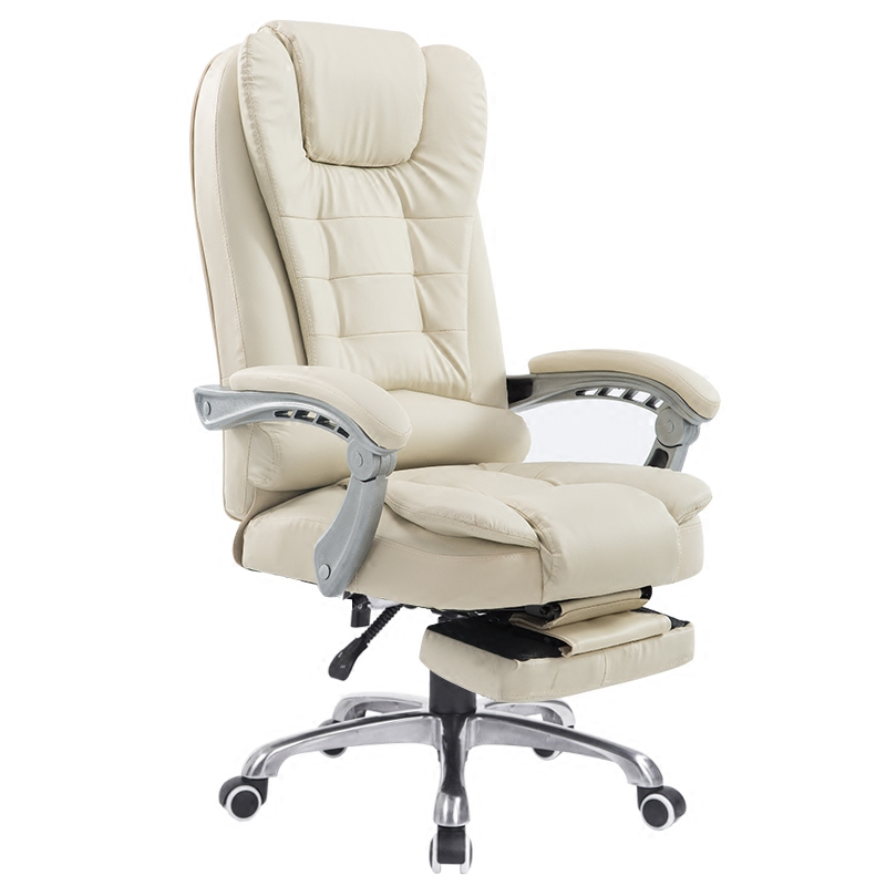 hick lift rotation massage chair modern simple office boss chair backrest adjustable with footrest comfortable computer chair Household Simple Computer Chair Reclining Casual Office Chair Massage Swivel Chair Comfortable Multifunction Lift Boss Chair