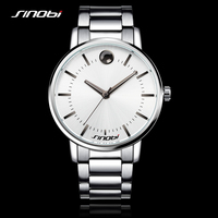 SINOBI Fashion Watch Men Watches Luxury Brand Steel Watchband Males Causal Quartz Clock Montres Hommes Marque