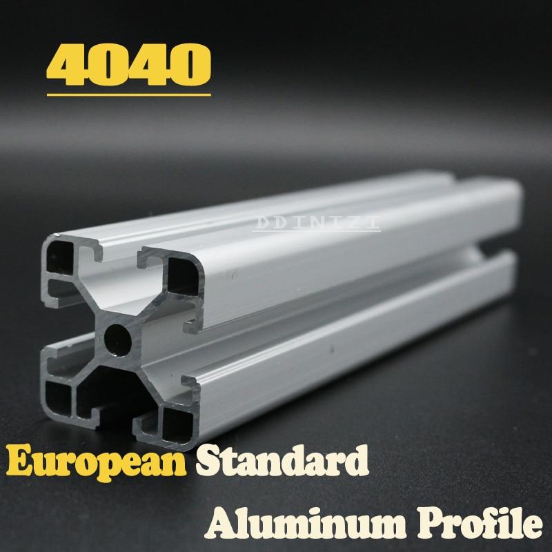 CNC 3D Printer Parts European Standard Anodized Linear Rail Aluminum Profile Extrusion 4040 for DIY 3D printer 1pcs hot sale cnc 3d printer parts european standard anodized linear rail aluminum profile extrusion 2080 for diy 3d printer