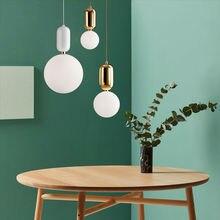 Livewin Pendant Light Gold Holder Lustres For Living Room Nordic Art Deco Glass Ball Lamp Dining Room Hanqing lampara luminaire