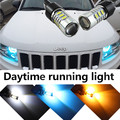1pcs For Jeep grand cherokee compass 2011 2012  2013 2014 White Blue red yellow 3157 Bulbs DRL Daytime running light led light