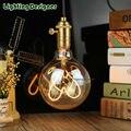 G95 LED vintage lamp bulb globe New type Love Edison bulb soft LED filament Amber 220V 4W pendant lamp commercial lighting bulb
