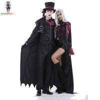 Halloween Vampire Couple Costumes Men's Bloody Handsome Costume Womens Steampunk Vampiress Uniforms Blood Countess Kits