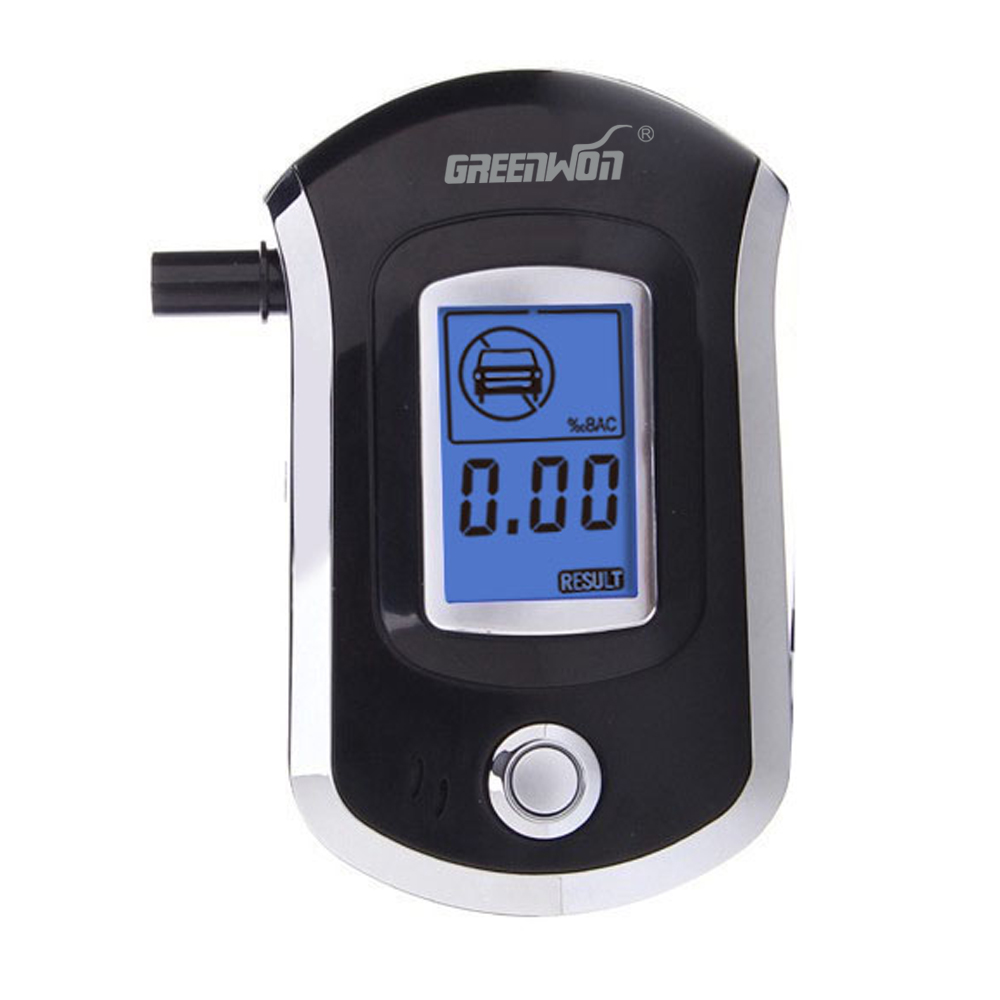 2018 Professionele Mini Politie Digitale Lcd-scherm Adem Alkohol Alcohol Tester Breathalyzer AT6000 Bafometro Alcoholimetro #