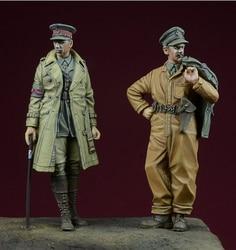 1/35 Figuras de Resina Kits Modelo de Tanque da segunda guerra MUNDIAL Britânica Soldado 2 figura Unassambled Sem Pintura