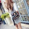 Feminino pacote Taobao vender novas bolsas Coreano borboleta flor bolsa de ombro bolsa de pu pequena mochila fabricantes atacado