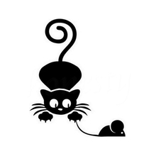 A Cat Catches A Mouse And A Cute Little Cat Art Painting Car Stickers Vinyl Decor Decals Rear Window Car Sticker car styling car stickers and decals cute cat pattern car window decor universal anti heat and sunlight auto motorcycle sticker