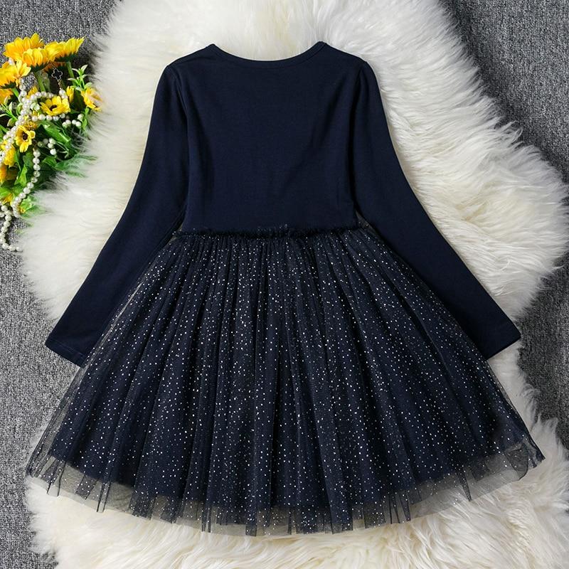 HTB1S1QVaUD1gK0jSZFGq6zd3FXaA Kids Long Sleeve Lace Drsses for Girls Party Dress Star Printed Birthday Tutu Dresses Children Casual Wear 3 6 8 Years Vestidos
