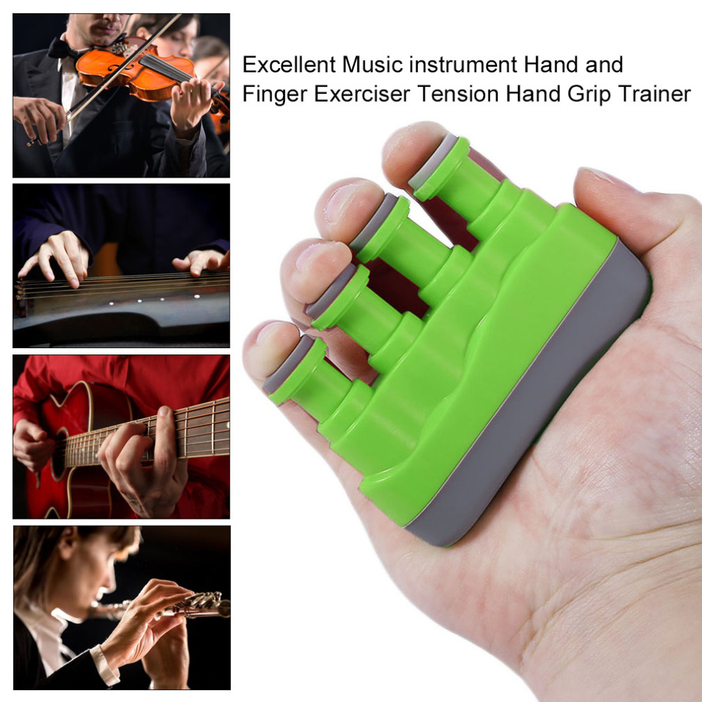 New Excellent Portable Guitar Bass Piano Hand Etc Music Instrument Finger Exerciser Tension Hand Grip Trainer drop shipping adjustable finger exerciser and hand strengthener for guitar guitar bass ukulele piano saxophone violin players amu mf4 1