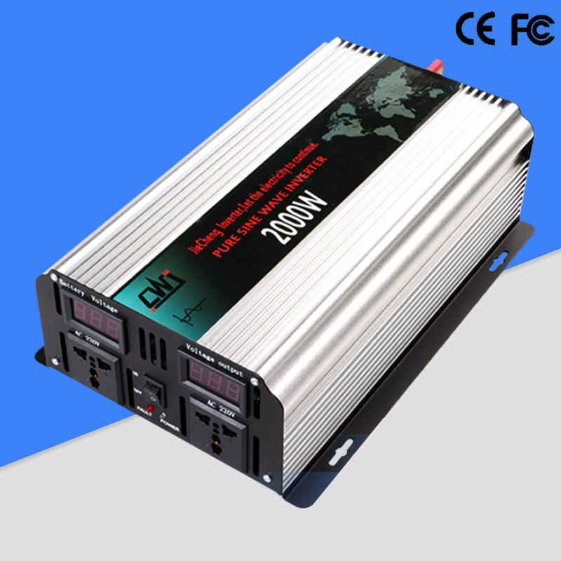 цена на 2000W Pure Sine Wave Car Transformer DC 12V/24V to AC 110V/220V Power Inverter Vehicle Power Supply Converter