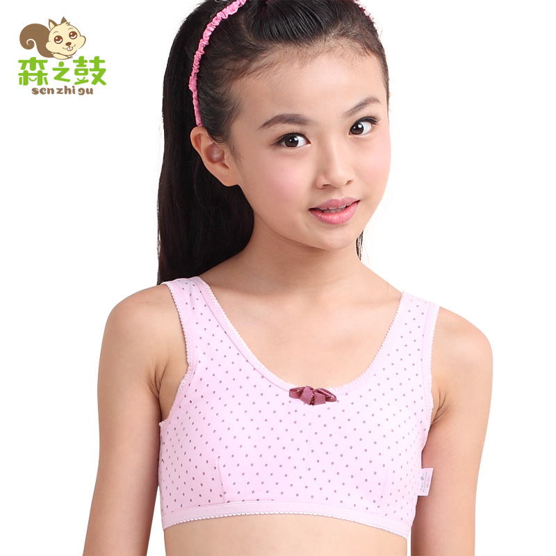 12aea67180 Bras Real For Kids Girls Bra 2016 Girls  Underwear Cotton Rims Vest Type  Small Student Development Period The Sports Wholesale -in Bras from Mother    Kids ...