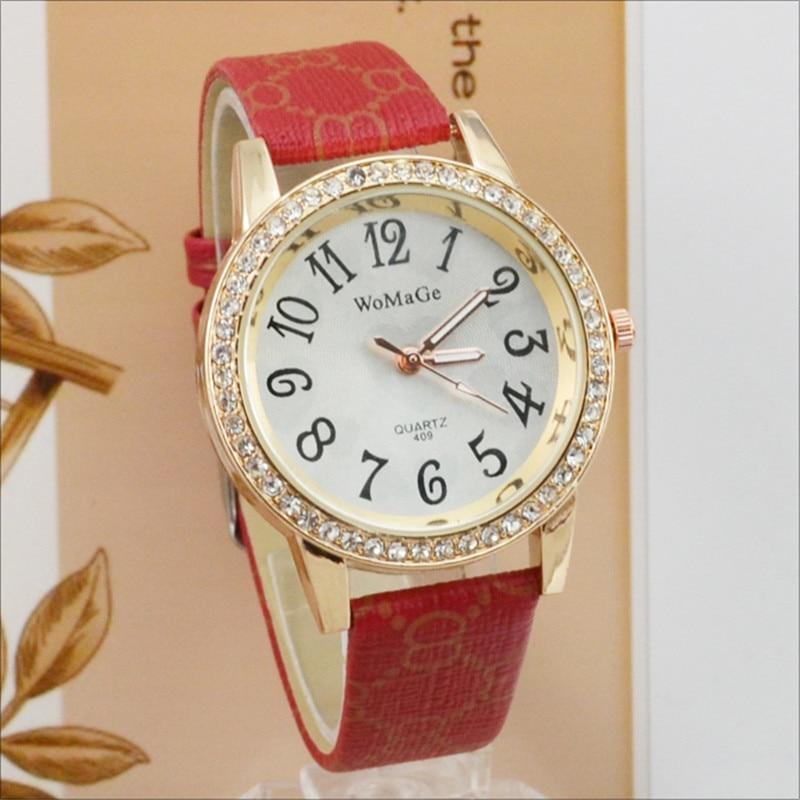2018 New Fashion Watch Women Watches Fashion Brand Womage Watches Girls Watch Leather Quartz Watch reloj mujer relogio feminino