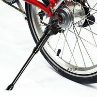 AGEKUSL 93g CNC Bicycle Kickstand For Brompton Folding Bike Hollow Lightweight Stand Kickstand Packing Rack Support Accessories