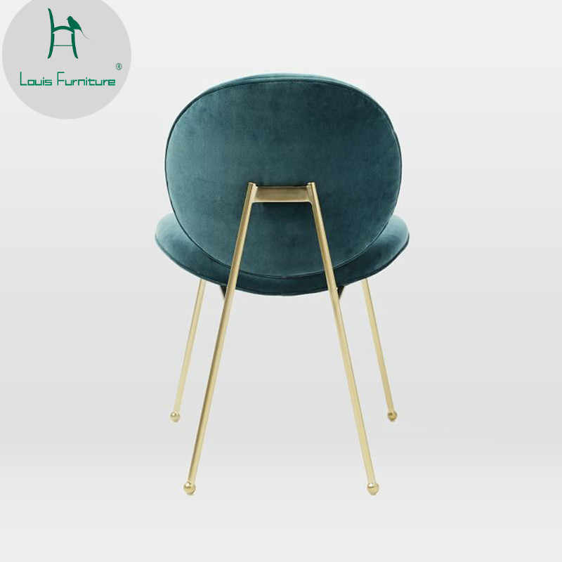 Louis Fashion Ding Chairs Nordic Beetle Chair Back Modern Simple Home Lazy Chair, Creative Cute Fabric, Bedroom Girl Heart