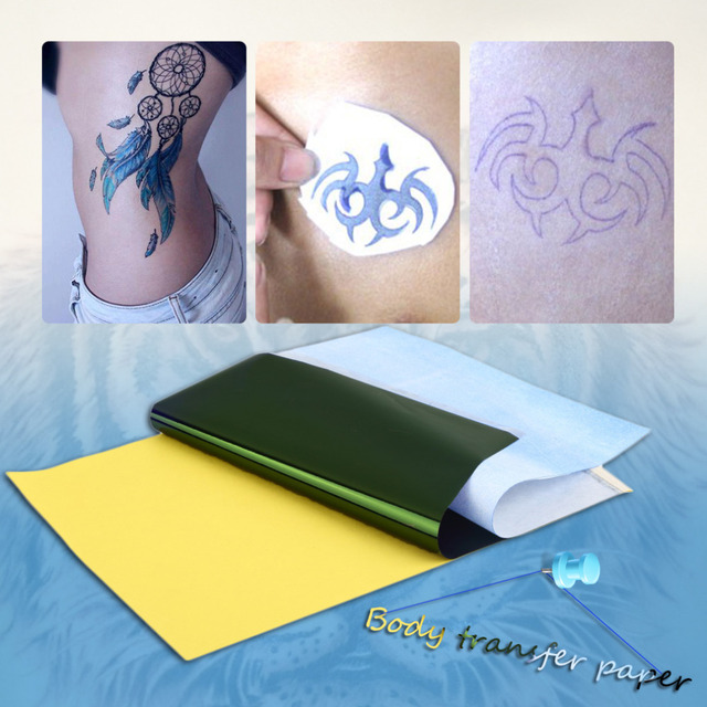Tattoo transfer carbon paper supply tracing copy body art for Temporary tattoo tracing paper