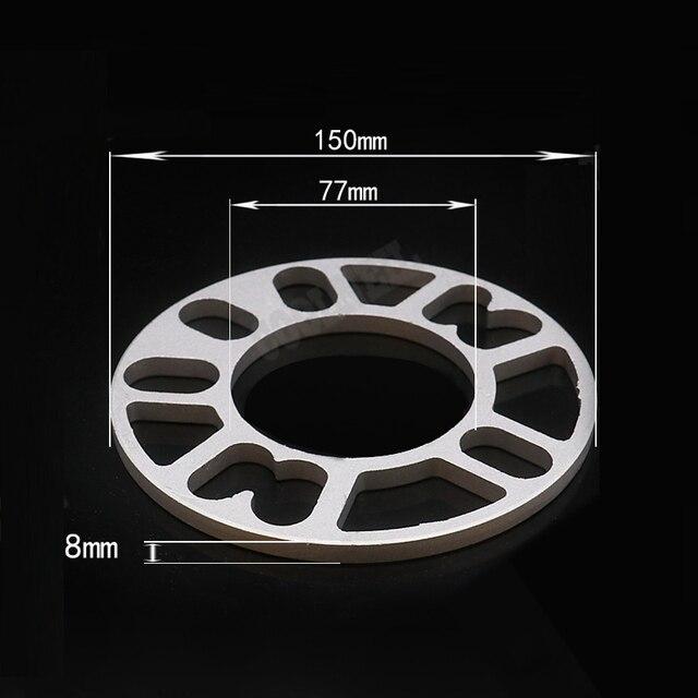 2pcs 3mm/5mm/8mm/10mm Car Aluminum Alloy Wheel Spacer Shims Plate  For 4 Hole Wheel Hub 4X98 4X100 4X108 4X114 Car Accessaries