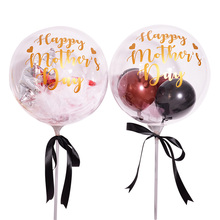 18 inches Happy Mothers Day Party Balloons Helium MAMA Ballons Feather Transparent clear Baloons For decorations