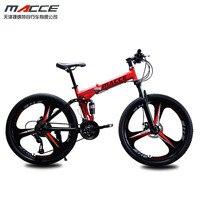 Горный велосипед с выдвижной ручкой, размером 24 дюйма, сумка стали 24-скорость двухдисковые тормоза с переменной скоростью дорожные велосип...