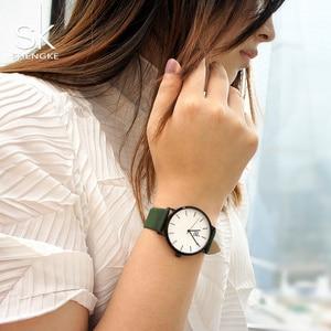 Image 5 - Shengke ファッション女性のクォーツ時計女性クリエイティブストラップ色を変更時計アナログレディースドレスジュネーブ腕時計リロイ Mujer