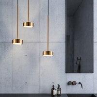 Nordic Modern Gold LED Pendant Lights bedroom dinning room kitchen hanglampen voor eetkamer E27 LED Lamp Edison Light Bulb