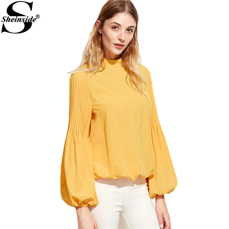 Online buy wholesale safety yellow shirt from china safety for Womens yellow long sleeve shirt