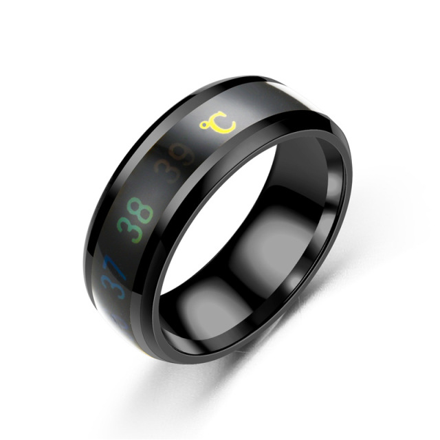 Fashion-Intelligent-Thermometer-temperature-measuring-ring-Stainless-steel-simple-creative-Couple-wedding-jewelry