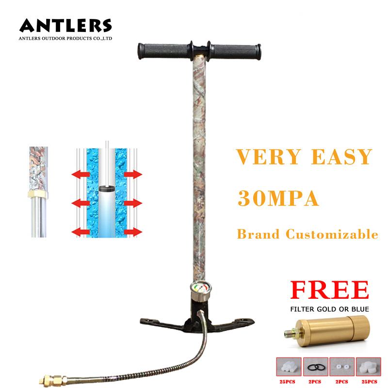 4500PSI High Pressure pcp hand pump 3 Stages 30MPA air hand pump for airgun air rifle paintball tank filling within oil filter automatic stop double cylinder pcp electric air pump 220v 50hz high pressure paintball air compressor with breath filter