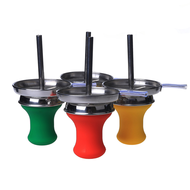 Smoking Dogo Silicone Hookah Bowl With Chimney Bowl Bowl Diamater 6.9cm and Charcoal Holder Top Diamater 9.5cm