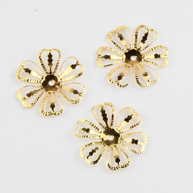 50pcs Filigree flower connector jewelry making DIY charm accessories 20mm