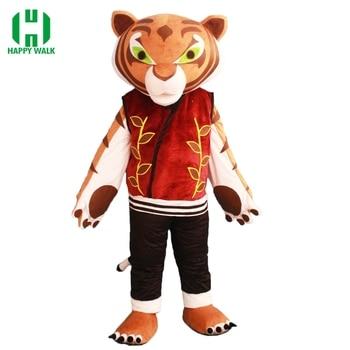 Di Alta Qualità di Tigre Tiger Costume Della Mascotte Kung Fu Panda Del Fumetto Della Mascotte Del Costume Adulto di Halloween di Carnevale Del Partito Del Costume