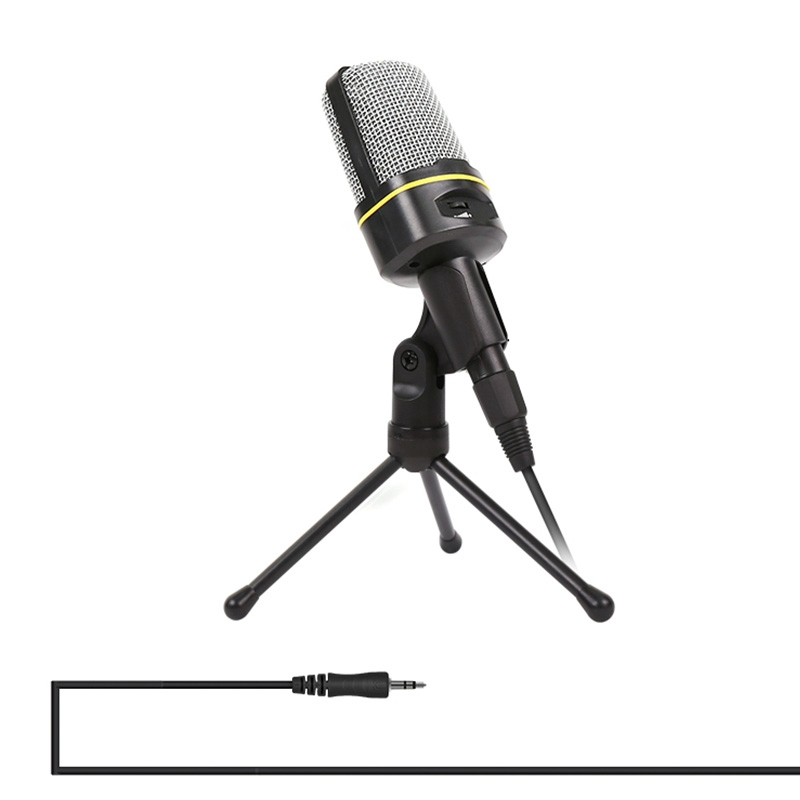 HAWEEL Professional Condenser Sound Recording Microphone with Tripod Holder Compatible PC and Mac for Live Broadcast Show