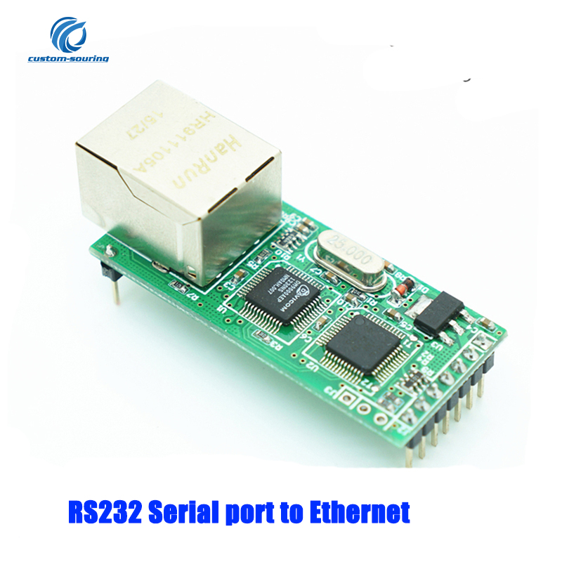 1PC RS232 Serial to Ethernet Module TTL level 3.3V Tcp Ip UDP Network module to TTL Network port to RJ45 Module1PC RS232 Serial to Ethernet Module TTL level 3.3V Tcp Ip UDP Network module to TTL Network port to RJ45 Module