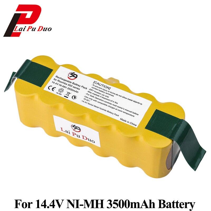 3500 mAh 14,4 V batería de Ni-MH para iRobot Roomba 500 de 600 de 700 serie 800 aspiradora para iRobot Roomba 600, 650, 700, 770, 780, 800
