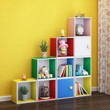 Cabinet Bookshelf Children Furniture Toy Wood Estante-De-Almacenamiento-De-Juguetes 10pieces/Set