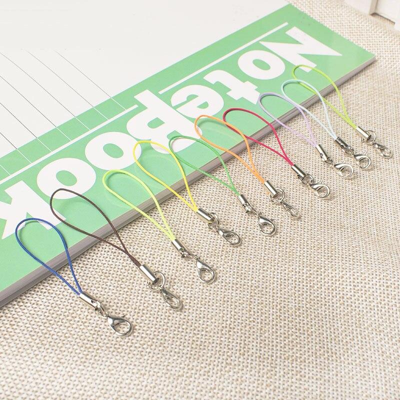 15pcs/lot Thread Cord Key Holder DIY Bag Key Ring Bags Toys Hanger Lobster Keyrings Keychain DIY Keyfob DIY KeyChain Accessories