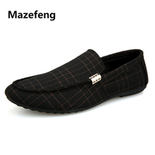 Mazefeng 2018 Fashion Spring Men Casual Shoes Men Loafers Shoes Stripe British Style Male Flats Men Shoes Slip-on Breathable hot 2016 spring new brand men s shoes british style breathable men casual shoes black and white slip on man leather pu shoes