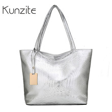 Kunzite Alligator PU Leather Shoulder Bags Large Capacity Casual Tote Bags Female Luxury Handbags Women Bags Designer Ladies Bag