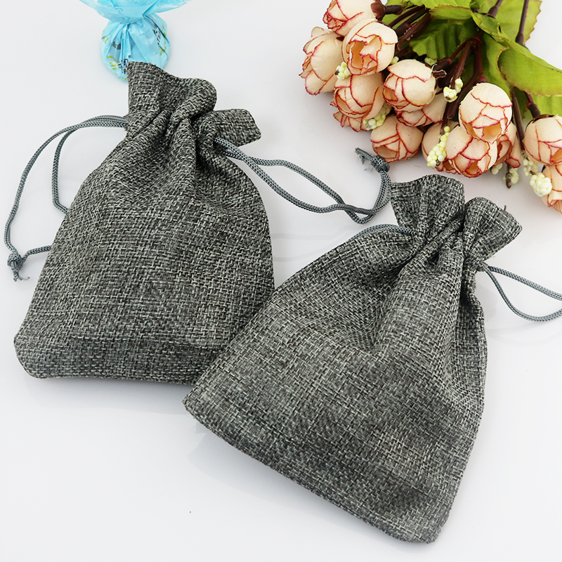 best sneakers best online sports shoes US $20.52 10% OFF|7*9cm 100pcs Plain Gray linen jute bag drawstring  bracelet necklace jewelry package bag small gift bag Wedding packaging  bag-in ...