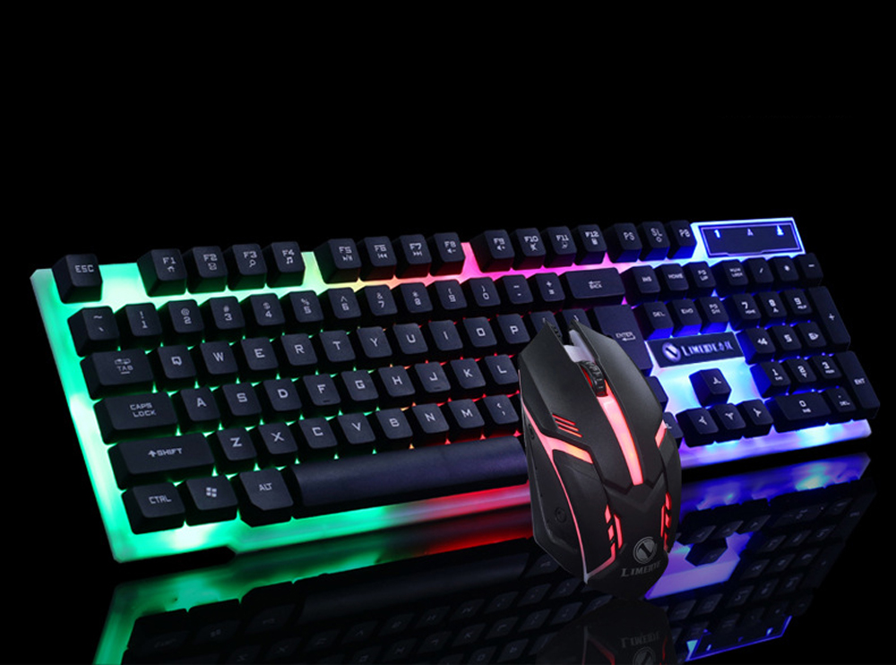black colorful keyboard