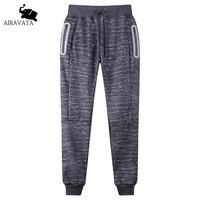 2017 New Spring Autumn Fashion Men S Pants Male Casual Cotton Fleece Sweatpants With Light Reflective