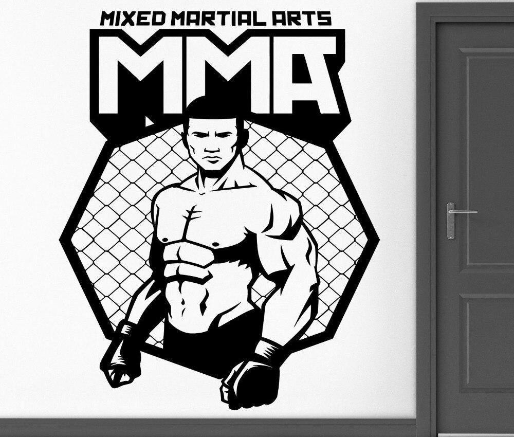 BucKoo Hot DIY Wandaufkleber Vinyl Aufkleber MMA UFC Käfig Kämpfer ...