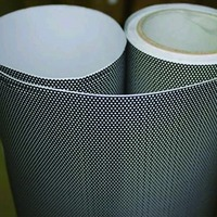 Privacy Window Adhesive Sticker Perforated Vinyl Double Black 1.22mx10m