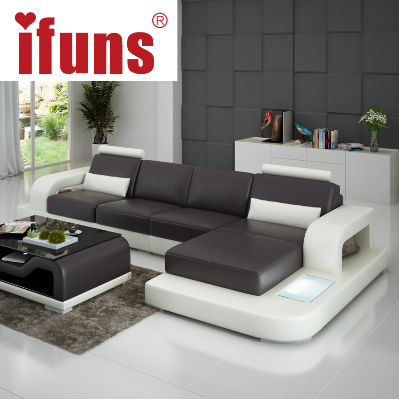 Unique leather sofa sets ifuns unique leather sofa living for Unique couches living room furniture